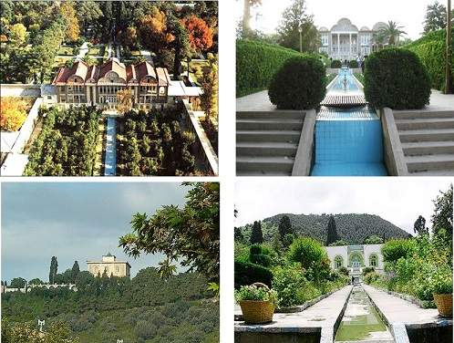 پاورپوینت بررسی رابطه انسان و طبیعت باغ های ایرانی
